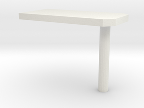 000010 wall table Tisch 1:87 in White Strong & Flexible