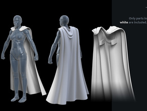 FB01-Cape-04  7inch in White Processed Versatile Plastic