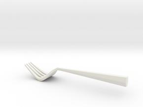 Fork One in White Natural Versatile Plastic