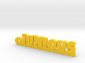 JUNIOUS Keychain Lucky in Yellow Processed Versatile Plastic