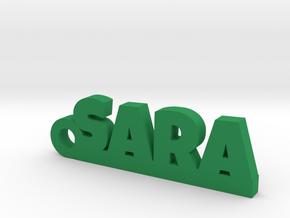 SARA Keychain Lucky in Green Strong & Flexible Polished