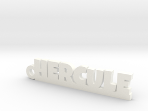 HERCULE Keychain Lucky in White Strong & Flexible Polished