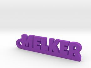 MELKER Keychain Lucky in Purple Processed Versatile Plastic