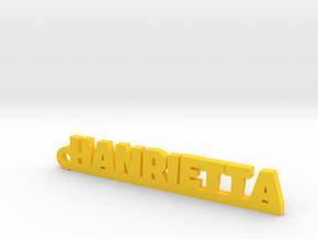 HANRIETTA Keychain Lucky in Yellow Processed Versatile Plastic