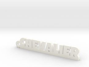 CHEVALIER Keychain Lucky in White Processed Versatile Plastic