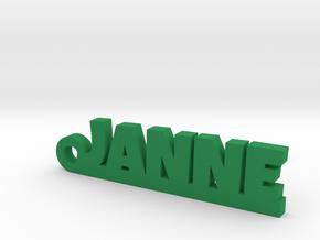 JANNE Keychain Lucky in Green Processed Versatile Plastic