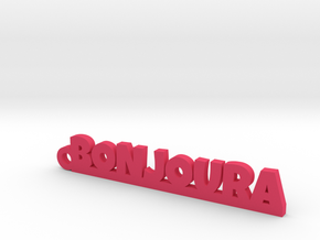 BONJOURA Keychain Lucky in Pink Processed Versatile Plastic
