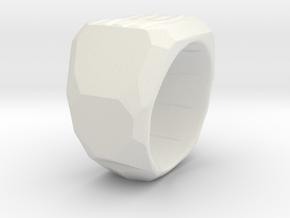 Sphynx Ring Alpha in White Natural Versatile Plastic: 7.5 / 55.5