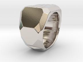 Sphynx Ring Alpha in Rhodium Plated Brass: 7.5 / 55.5