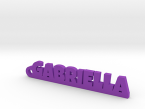 GABRIELLA Keychain Lucky in Purple Strong & Flexible Polished