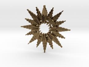 Art Deco Sunburst Pendant in Natural Bronze