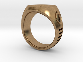 LMNTL Water Ring (size 12) in Natural Brass