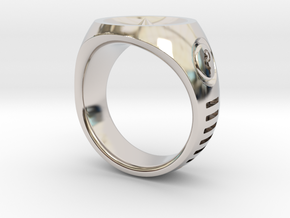 LMNTL Water Ring (size 12) in Rhodium Plated Brass