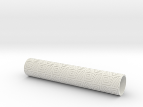 Rolling Pin Sleeve Maxico City 3d in White Natural Versatile Plastic