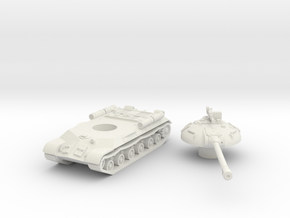 IS-3 Tank (Russian) 1/144 in White Natural Versatile Plastic