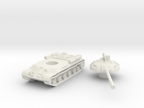 IS-3 Tank (Russian) 1/100 in White Natural Versatile Plastic