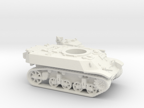 M3 Stuart tank (USA) 1/100 in White Natural Versatile Plastic