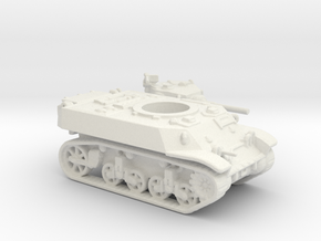 M3 Stuart tank (USA) 1/144 in White Natural Versatile Plastic