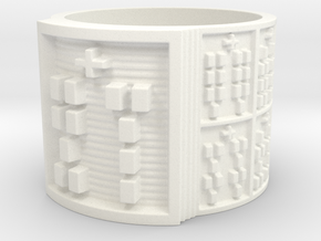 OSATRUPON Ring Size 14 in White Processed Versatile Plastic