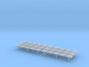 TJ-H04551x6 - bancs de quai 5 places in Smooth Fine Detail Plastic
