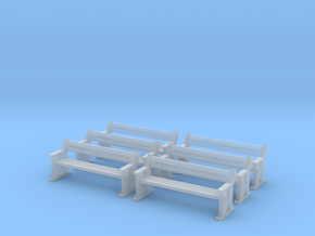 TJ-H04556x6 - bancs de quai en bois in Smooth Fine Detail Plastic