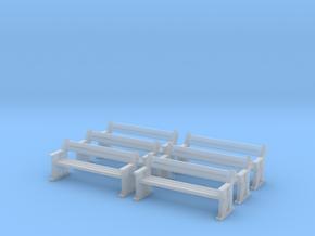 TJ-H04556x6 - bancs de quai en bois in Smooth Fine Detail Plastic