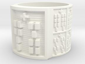 IKAJUANI Ring Size 13.5 in White Processed Versatile Plastic