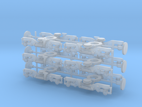 C3000/40000 bogies 1/148 in Smooth Fine Detail Plastic