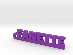 FANETTE Keychain Lucky in Purple Processed Versatile Plastic