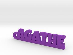 AGATHE Keychain Lucky in Purple Processed Versatile Plastic