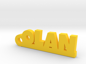 OLAN Keychain Lucky in Yellow Strong & Flexible Polished