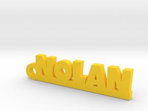 NOLAN Keychain Lucky in Yellow Processed Versatile Plastic