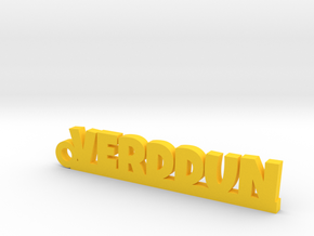 VERDDUN Keychain Lucky in Yellow Strong & Flexible Polished