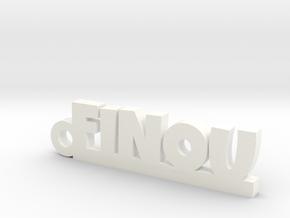 FINOU Keychain Lucky in White Processed Versatile Plastic