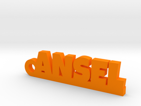 ANSEL Keychain Lucky in Orange Processed Versatile Plastic