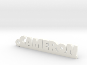 CAMERON Keychain Lucky in Rhodium Plated Brass