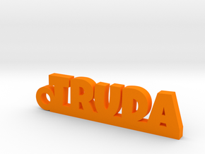 TRUDA Keychain Lucky in Orange Processed Versatile Plastic