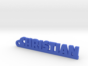 CHRISTIAN Keychain Lucky in Blue Processed Versatile Plastic