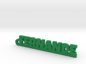 FERNANDE Keychain Lucky in Green Strong & Flexible Polished