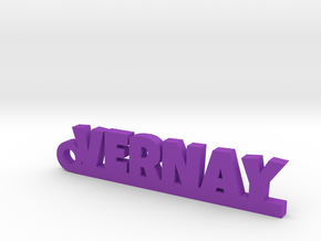 VERNAY Keychain Lucky in Purple Processed Versatile Plastic