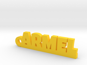ARMEL Keychain Lucky in Yellow Processed Versatile Plastic