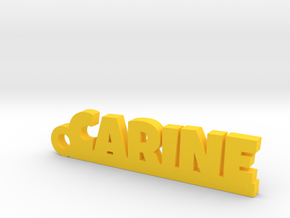 CARINE Keychain Lucky in Yellow Processed Versatile Plastic