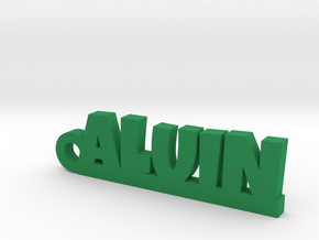 ALUIN Keychain Lucky in Green Strong & Flexible Polished