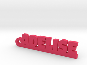 ADELISE Keychain Lucky in Pink Strong & Flexible Polished
