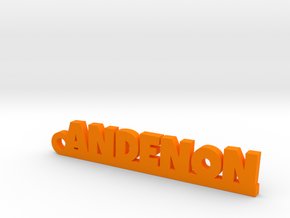ANDENON Keychain Lucky in Orange Strong & Flexible Polished