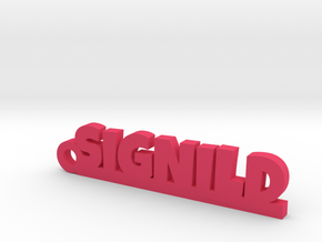 SIGNILD Keychain Lucky in Pink Strong & Flexible Polished