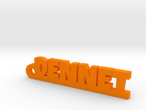 DENNET Keychain Lucky in Orange Processed Versatile Plastic
