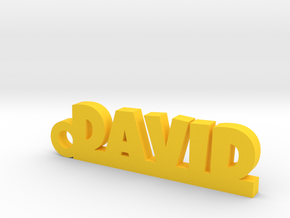 DAVID Keychain Lucky in 14k Gold Plated Brass