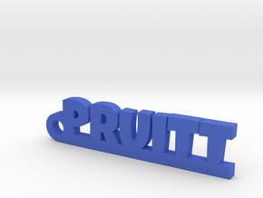 PRUITT Keychain Lucky in Blue Processed Versatile Plastic