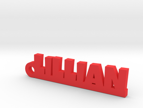 LILLIAN Keychain Lucky in Red Processed Versatile Plastic